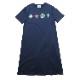 EVA Big Monogram Neon T-Shirt Dress (NAVY)