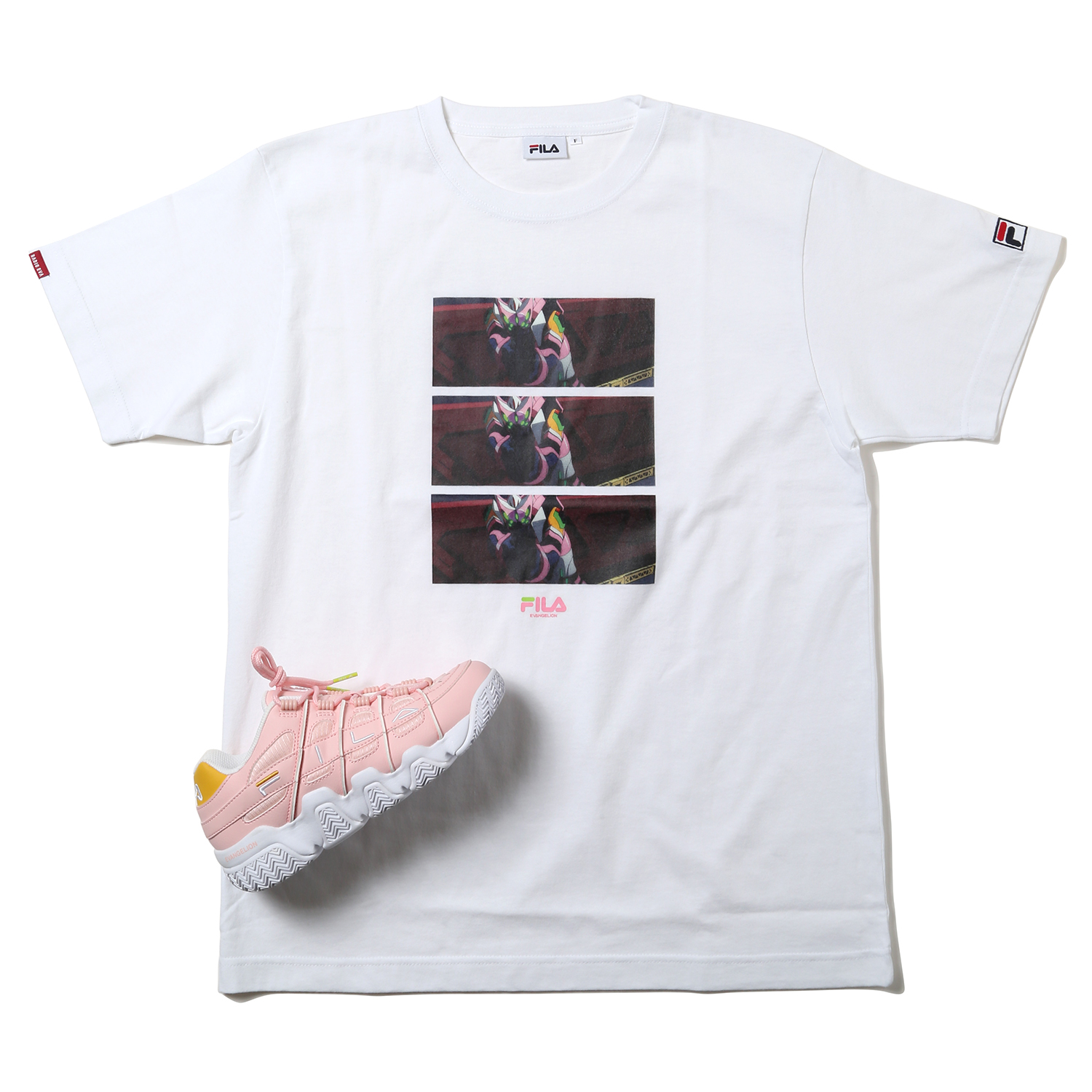 EVANGELION GRAPHIC T-Shirt by FILA (WHITE (エヴァンゲリオン 8号機))