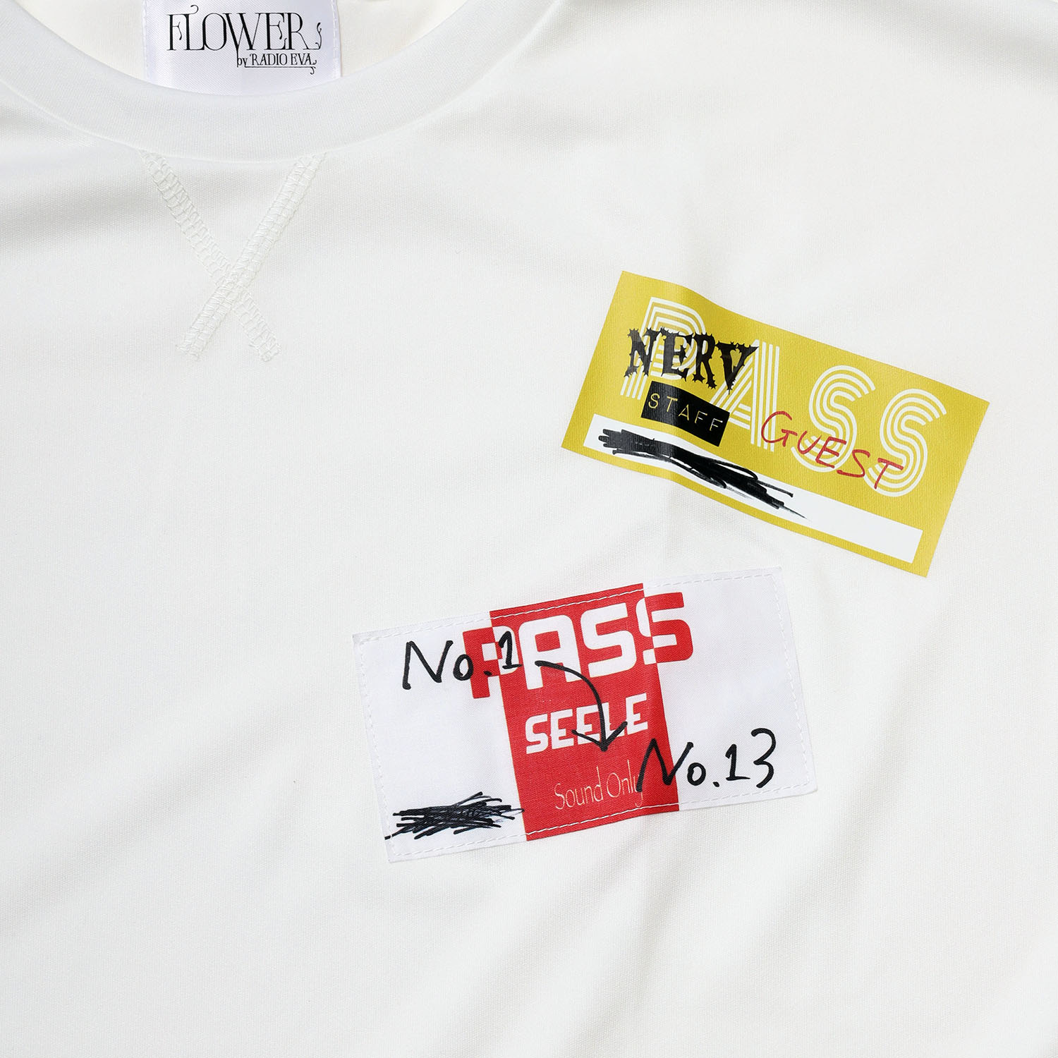 Back Stage Pass French Sleeve T-Shirt (WHITE)