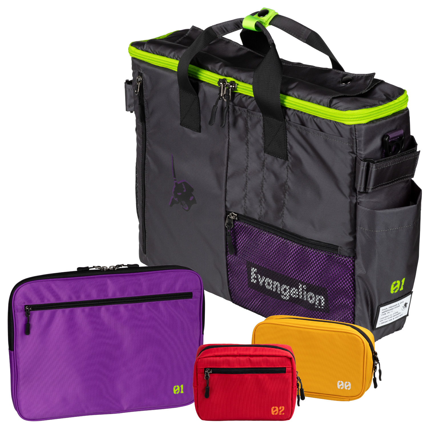 EVANGELION CORE 3WAY BAG in GADGET CASE by FIRE FIRST (EVA-01 MODEL)