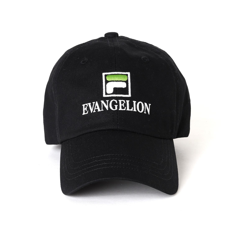 FILA MULTI LOGO CAP EVANGELION LIMITED (BLACK)