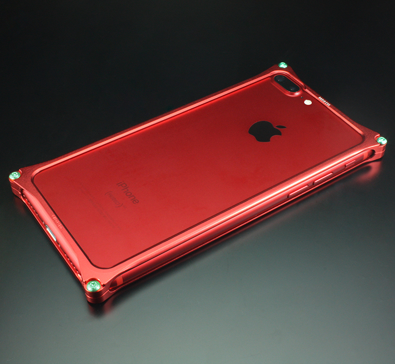 Solid Bumper for iPhone7Plus/8Plus (RADIO EVA Limited) (Matte RED(式波・アスカ・ラングレー))