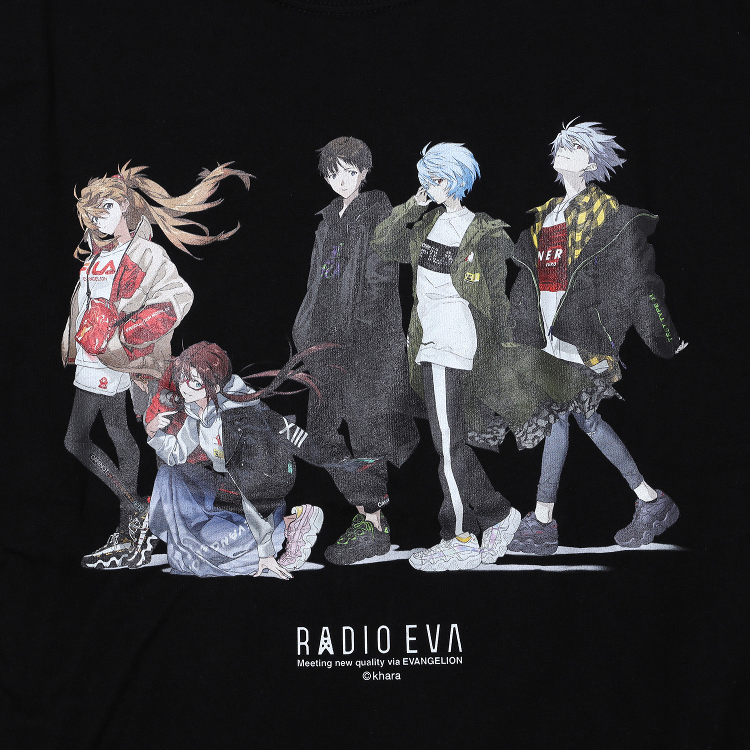 RADIO EVA Illustration Cutsew (Mai Yoneyama) (BLACK)