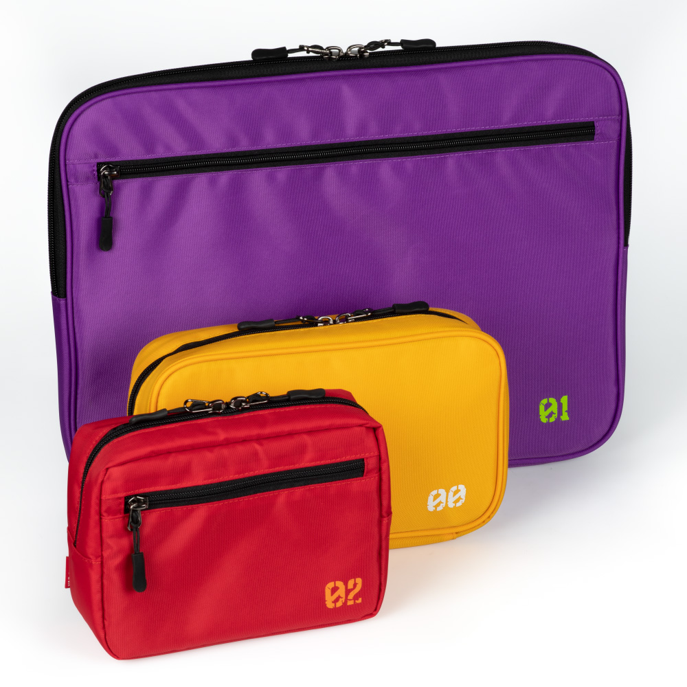 EVANGELION CORE 3WAY BAG in GADGET CASE by FIRE FIRST (EVA-02 MODEL)