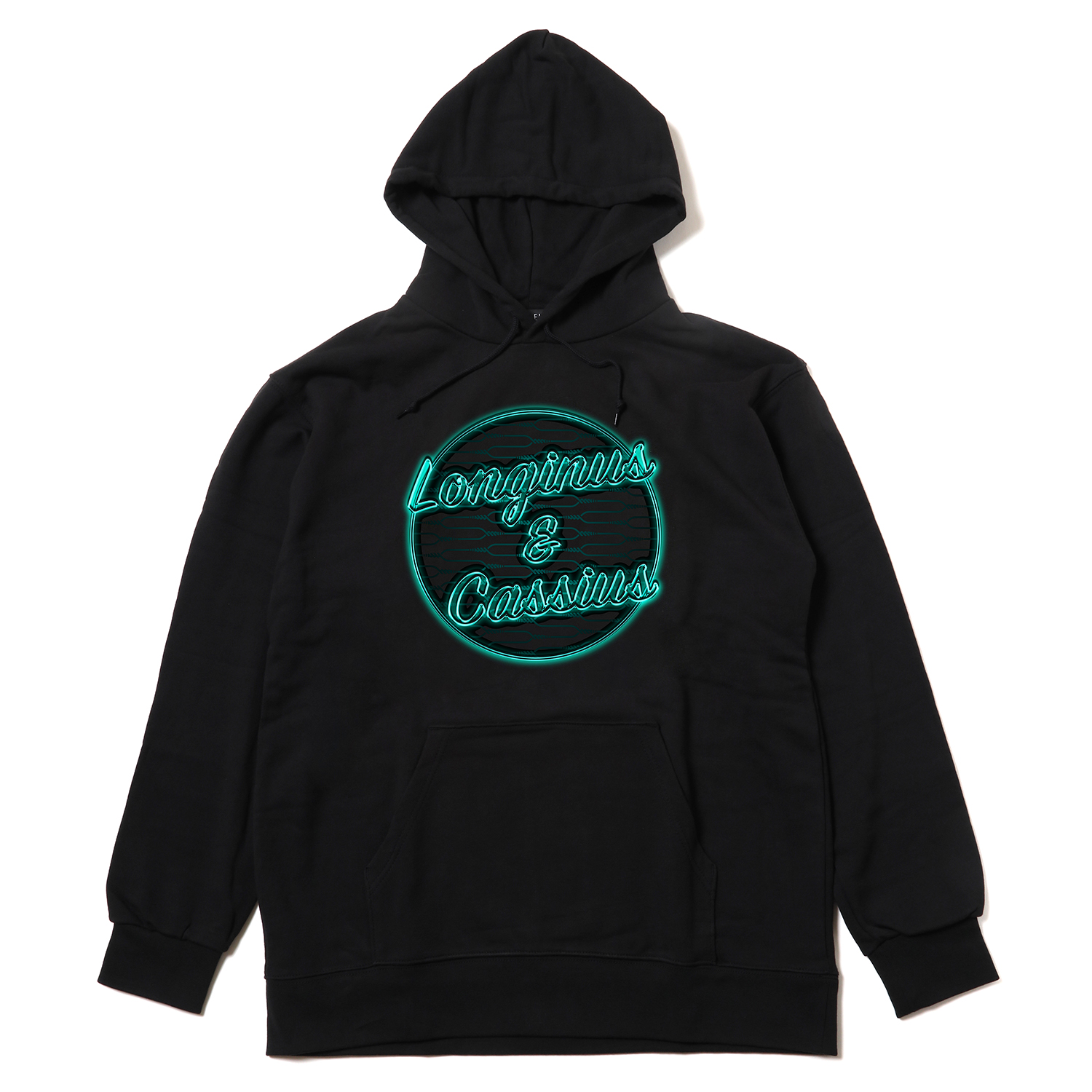 Longinus & Cassius Neon Sign Parka (BLACK× GREEN)