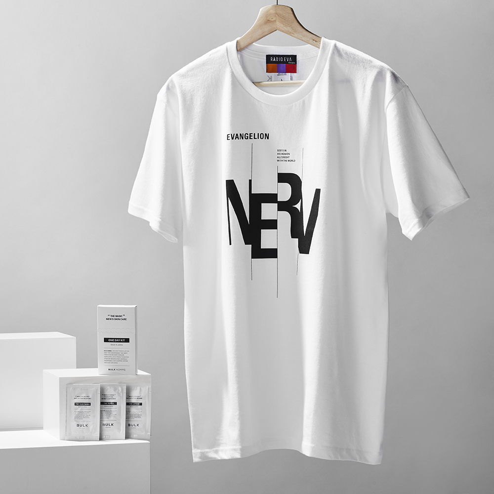 RADIO EVA × BULK HOMME T-Shirt + ONE DAY KIT (TYPOGRAPHIC OF NERV)