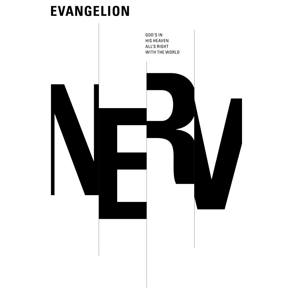 RADIO EVA × BULK HOMME T-Shirt + ONE DAY KIT (TYPOGRAPHIC OF NERV)