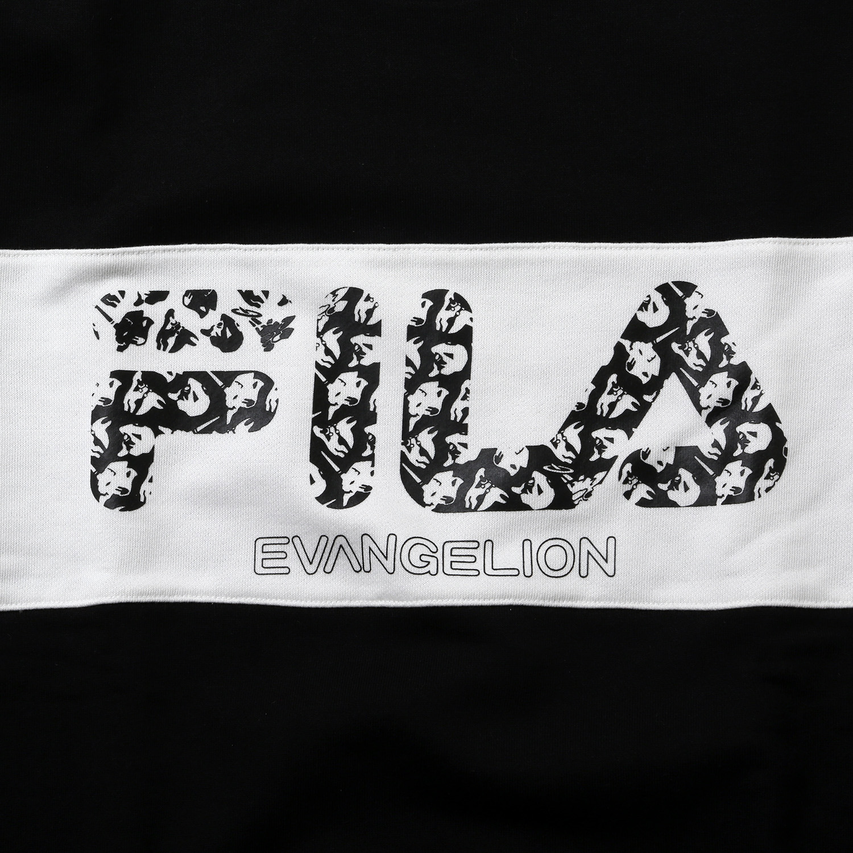 FILA MONOGRAM LOGO SWEAT  EVANGELION LIMITED (BLACK)