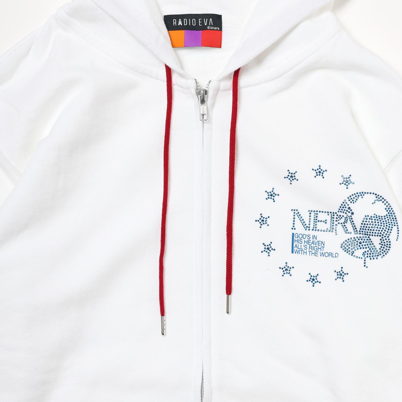 EURO NERV RHINESTONE PARKA (WHITE)