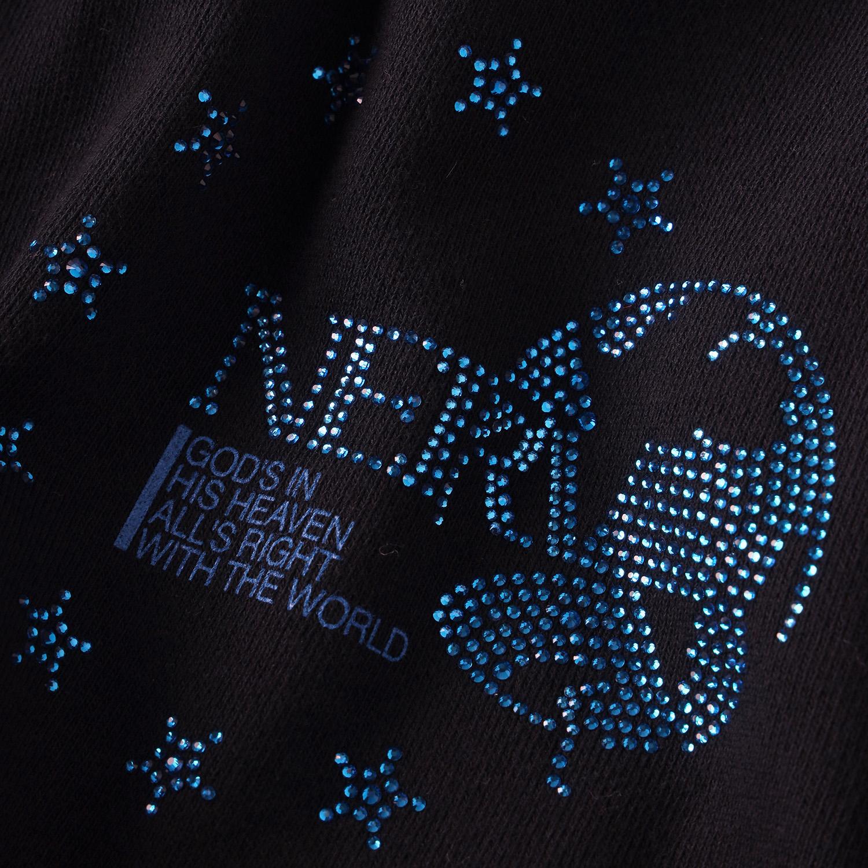 EURO NERV RHINESTONE PARKA (BLACK)