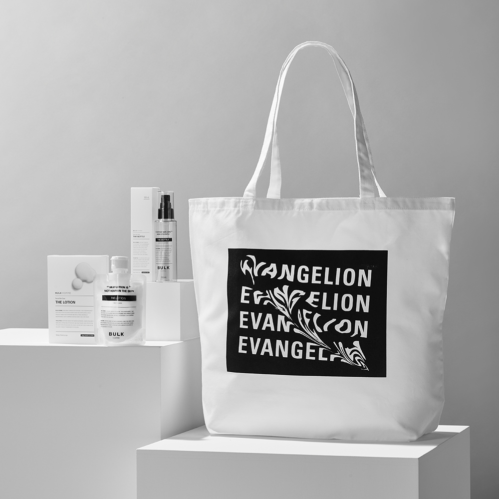 RADIO EVA×BULK HOMME Tote Bag + THE LOTION SET (EVA BOX LOGO)