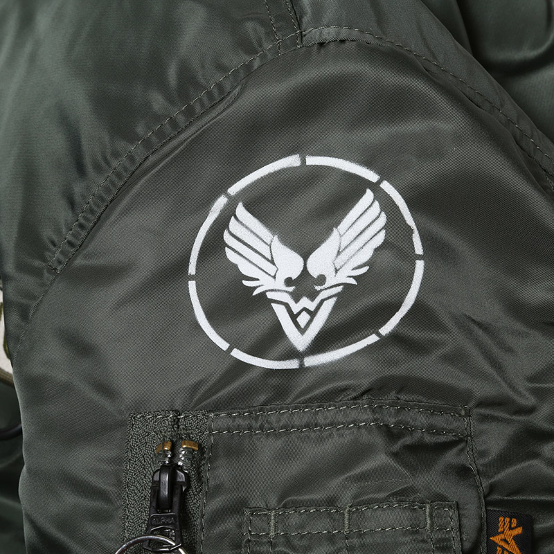 "RADIO EVA × ALPHA MA-1 ""KAMIKAZE CUSTOM"" WILLE EDITION (VTG.GREEN(SAGE))"