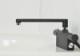 サーモスタットシャワー混合栓 浴室用水栓 台付き  (節水シャワー ブラック シルバー)