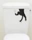 トイレタンクシール 2枚入り かわいい デコレーション ( リメイク いぬ ねこ )