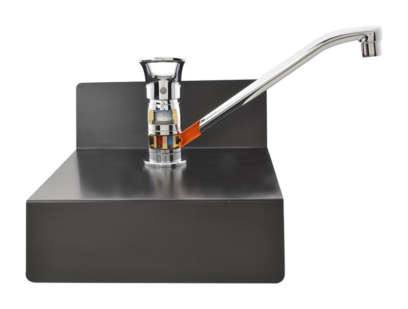 蛇口 水栓カットモデル 構造丸わかり ( インテリア ワンホールシングルレバー混合栓 )
