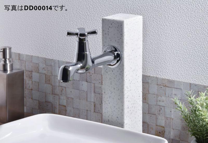 水栓取付脚 和風 壁付水栓用 (ショート 寒水石 手洗い)