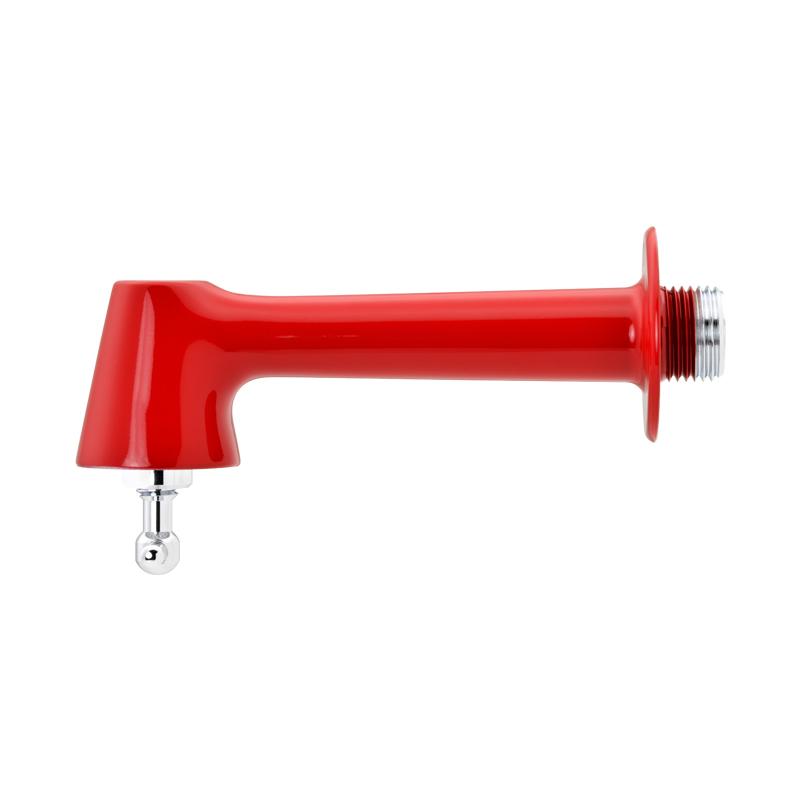 単水栓 衛生水栓 おしゃれ (掃除簡単 レッド シルバー)