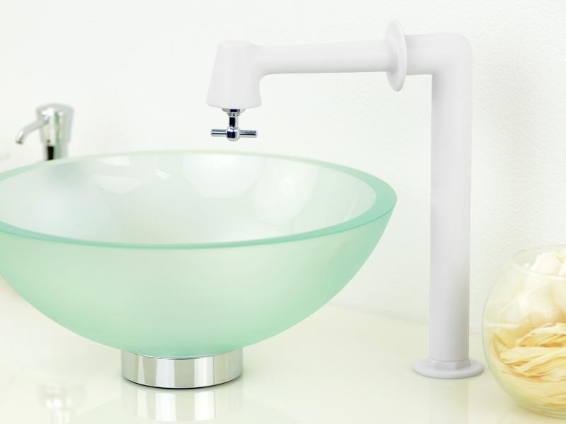 単水栓 衛生水栓 おしゃれ (掃除簡単 マットホワイト シルバー)