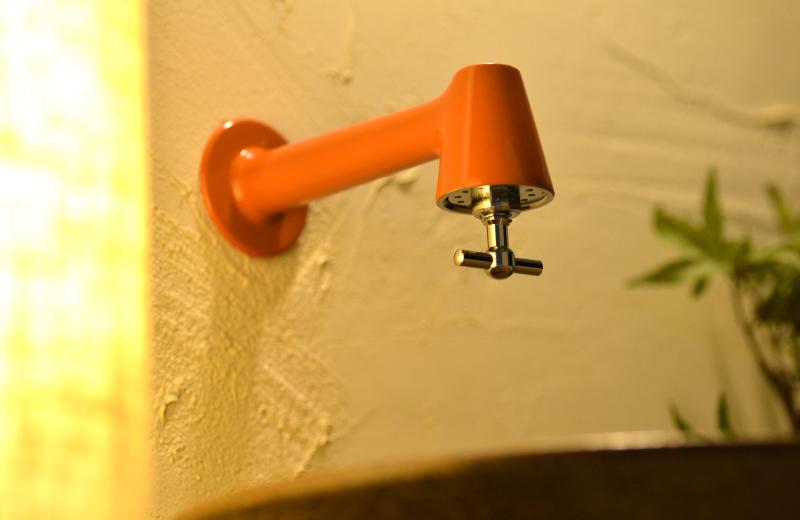 単水栓 衛生水栓 おしゃれ ( 掃除簡単 オレンジ シルバー )