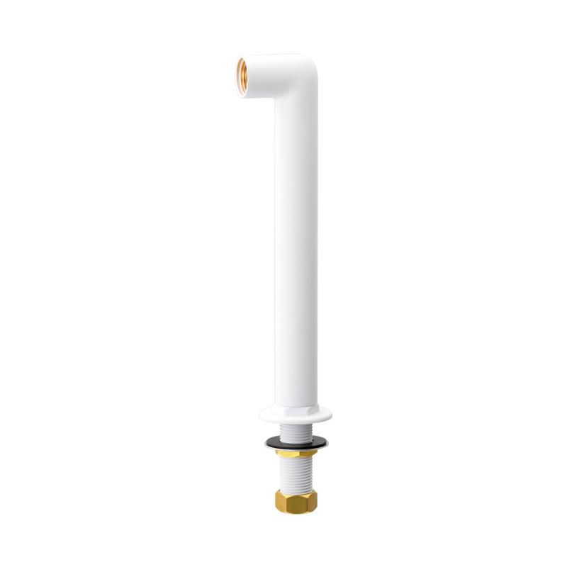 水栓取付脚 おしゃれ 壁付水栓用 (トール マットホワイト)
