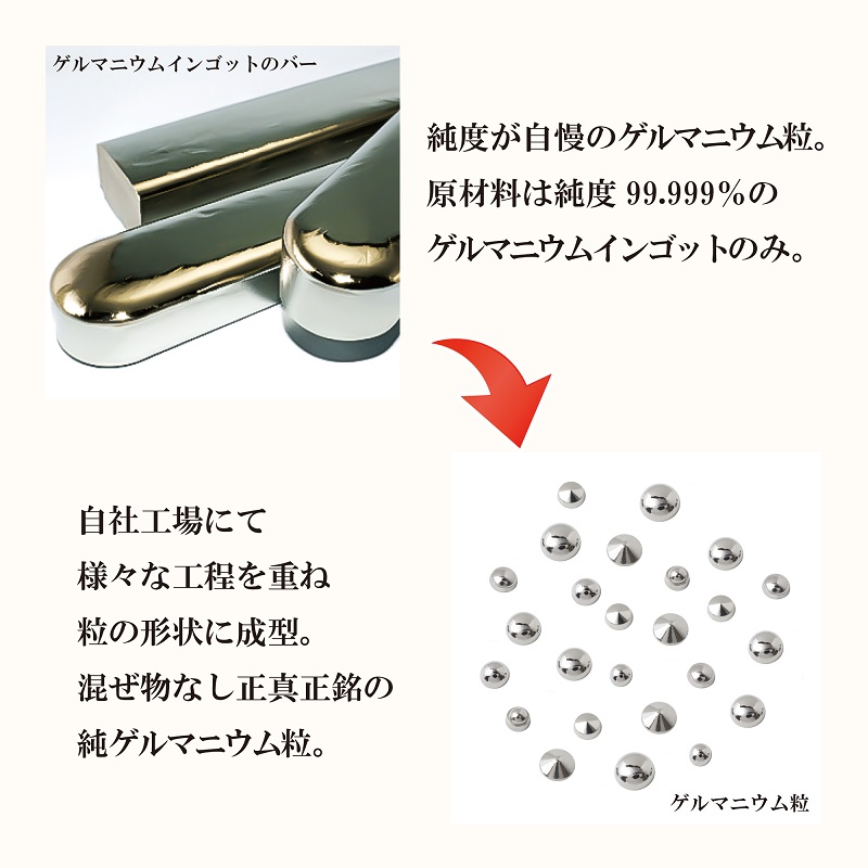 ゲルマニウム粒 直径7mm カサ型6粒