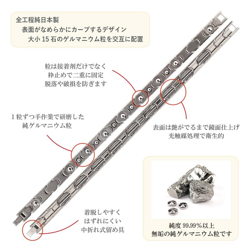 純ゲルマニウムブレスレット 15石