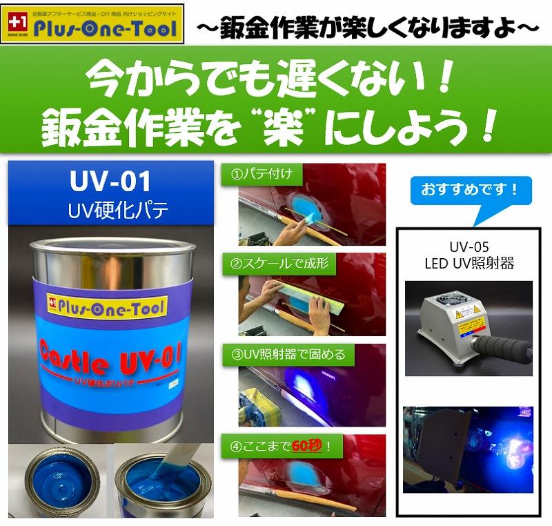 UV-01 UV硬化パテ(鈑金用)