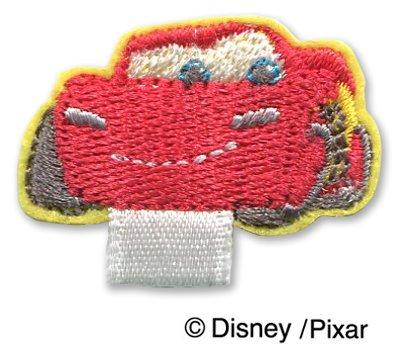 ★2枚セット ディズニー カーズ 名札付けワッペン 制服・スモックの穴あき防止 リボンがついたワッペン