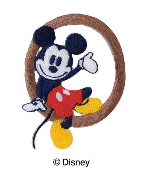MY313 ディスニーキャラクター【ミッキーマウス】イニシャルワッペンO
