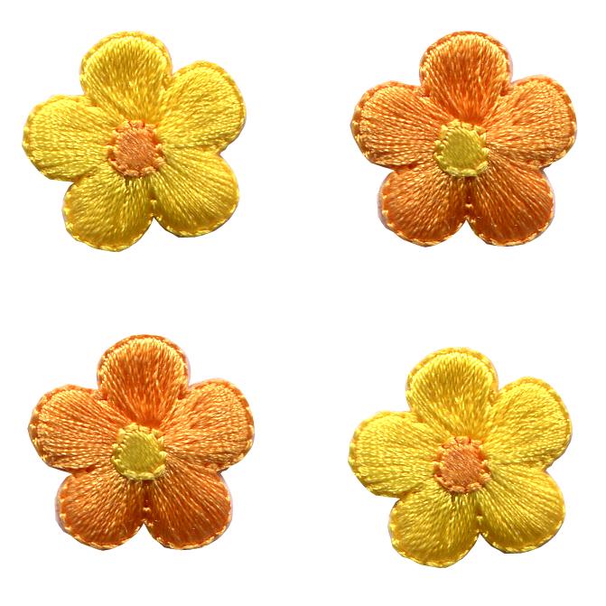 35326 リトルアップリケ 黄色のお花<br>アイロン接着ワッペン