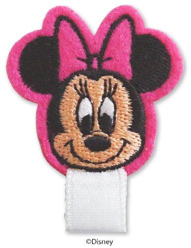 ディズニー ミニーマウス 名札付けワッペン 制服・スモックの穴あき防止 リボンがついたワッペン