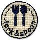 23359 目印マークのワッペン (フォーク&スプーン)