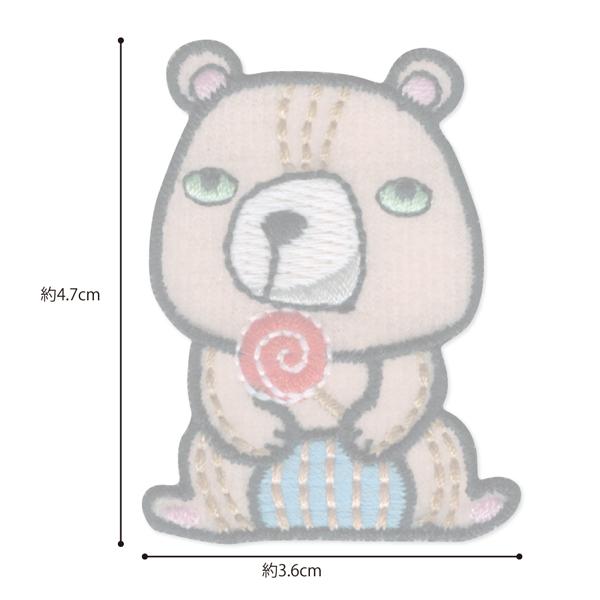 23023 パイオニアワッペンシリーズ「クマ」<br>園グッズ・スクールグッズのデコに最適