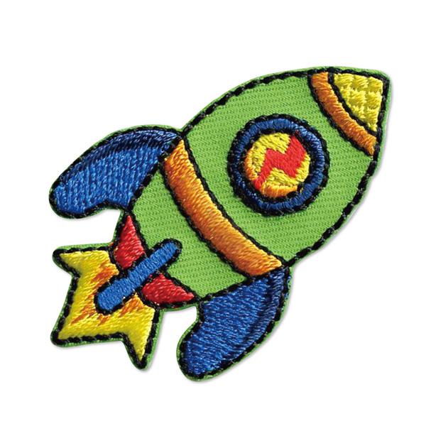 23025 パイオニアワッペンシリーズ「ロケット」<br>園グッズ・スクールグッズのデコに最適