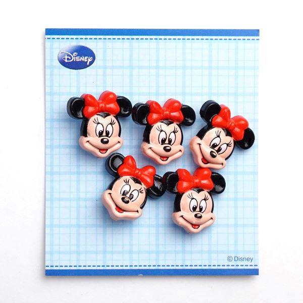 DI77 ・DISNEY「ミニーマウス」ボタン5個入り