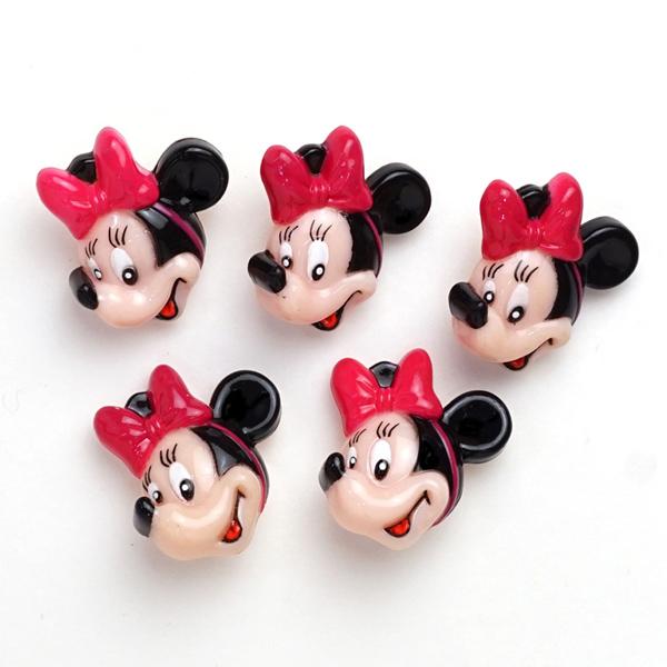 DI82 DISNEY「ミニーマウス」ボタン5個入り