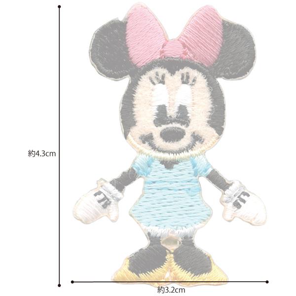 MY465 ディズニーキャラクター ミニーマウス ワッペン アイロン&シール両用タイプ