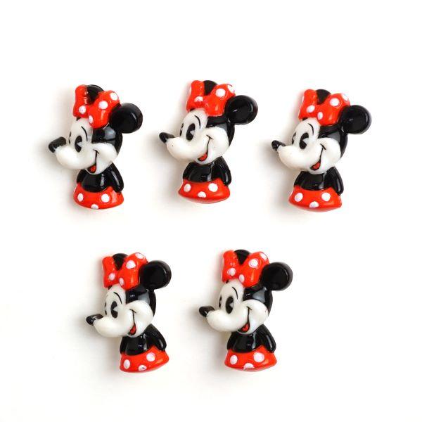 DI85 ・DISNEY「ミニーマウス」ボタン5個入り