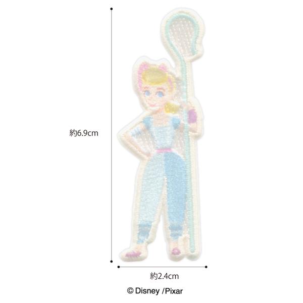 MY454 アイロン・シール両用ワッペン<br>  ディズニー/ピクサー 「トイ・ストーリー4」<ボー・ピープ>