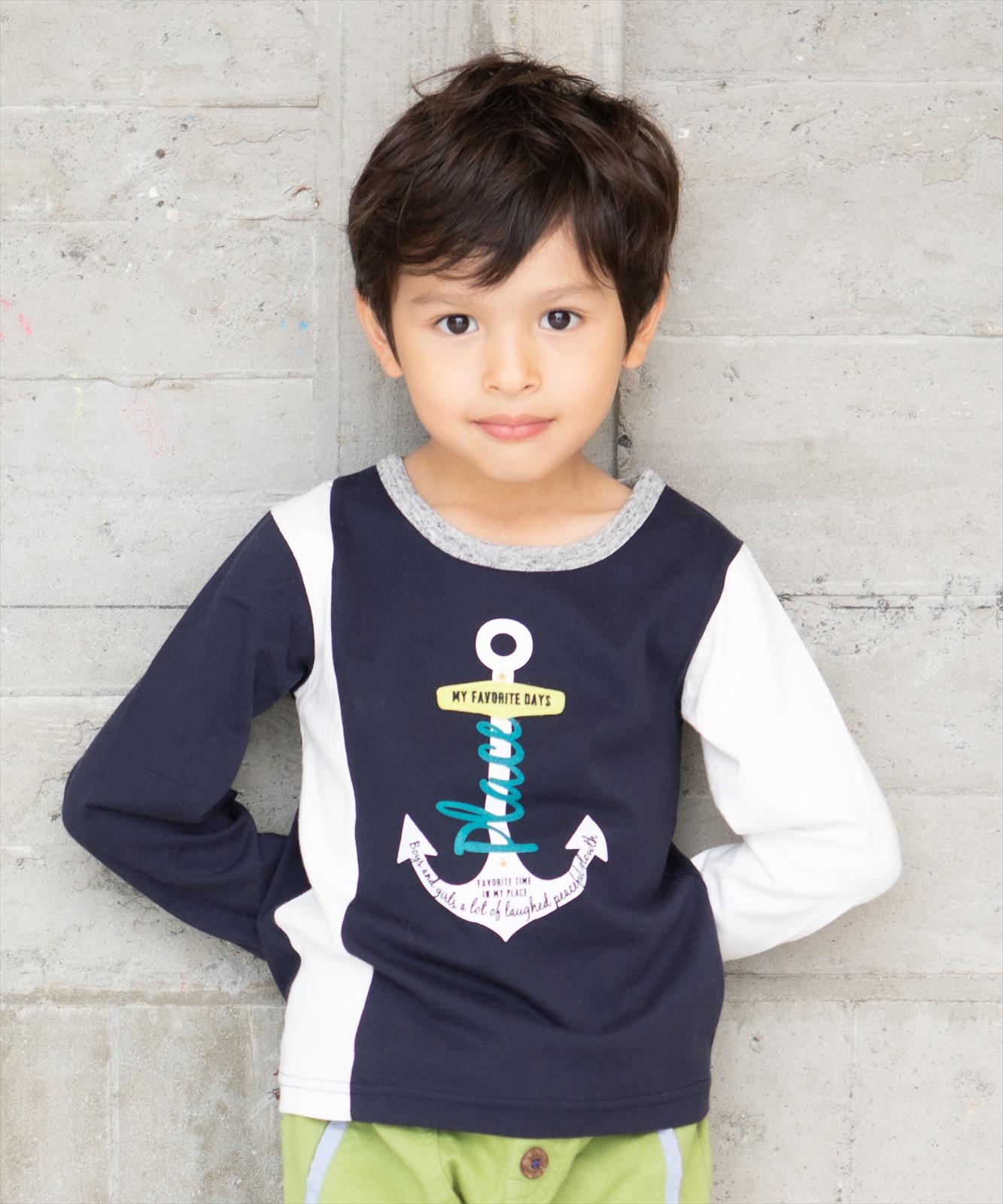 【セール】アンカーモチーフロングスリーブTシャツ