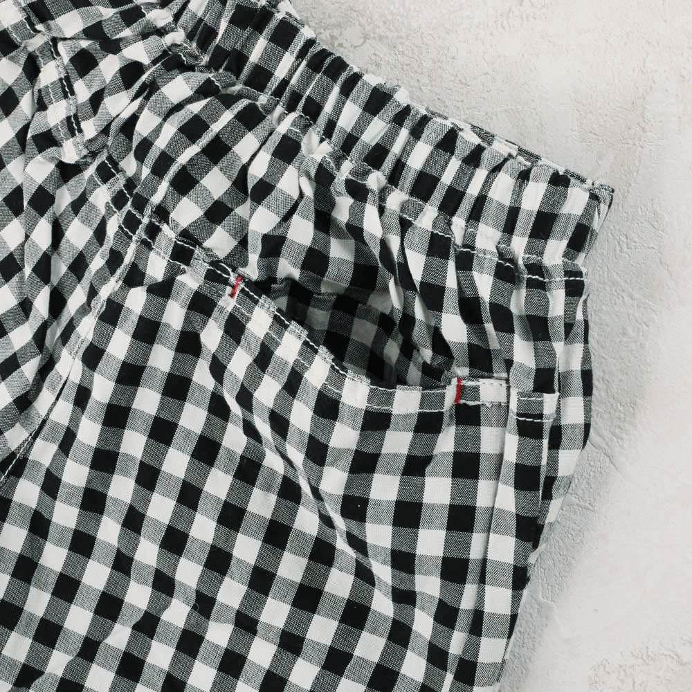 【セール】バルーンシルエットパンツ デニム ギンガムチェック