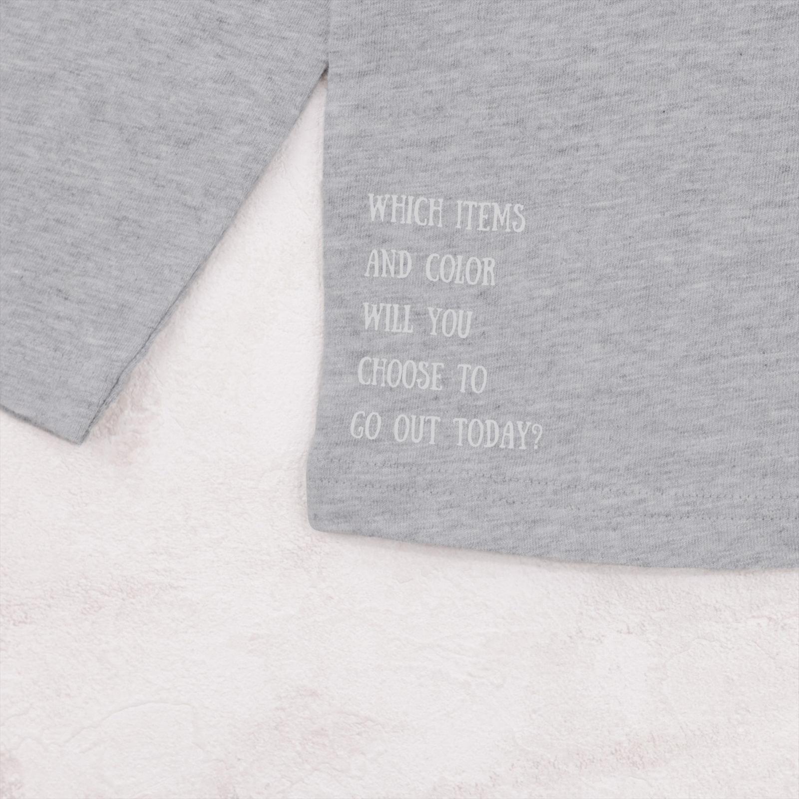 バイカラー切り替えTシャツ