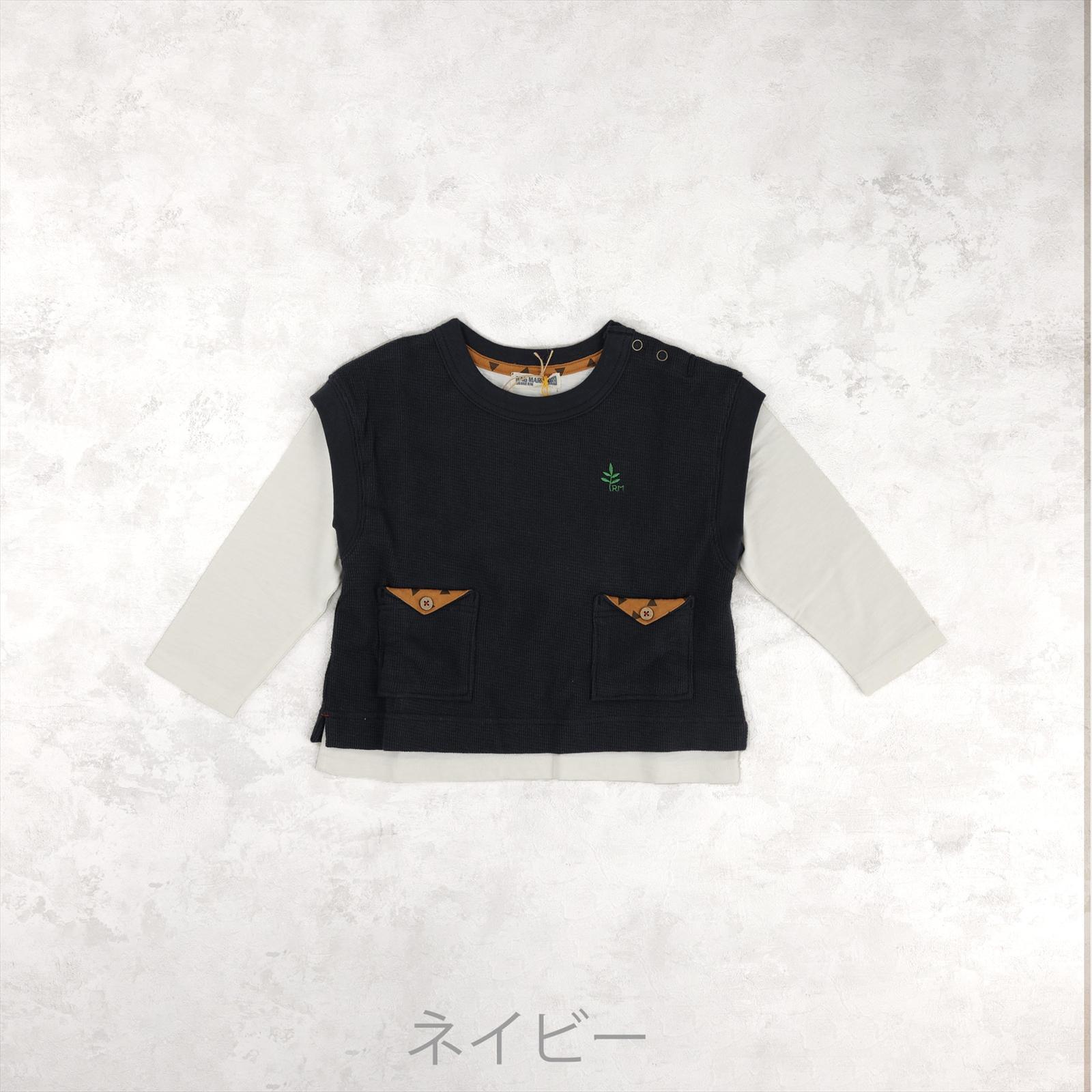 レイヤードベストTシャツ