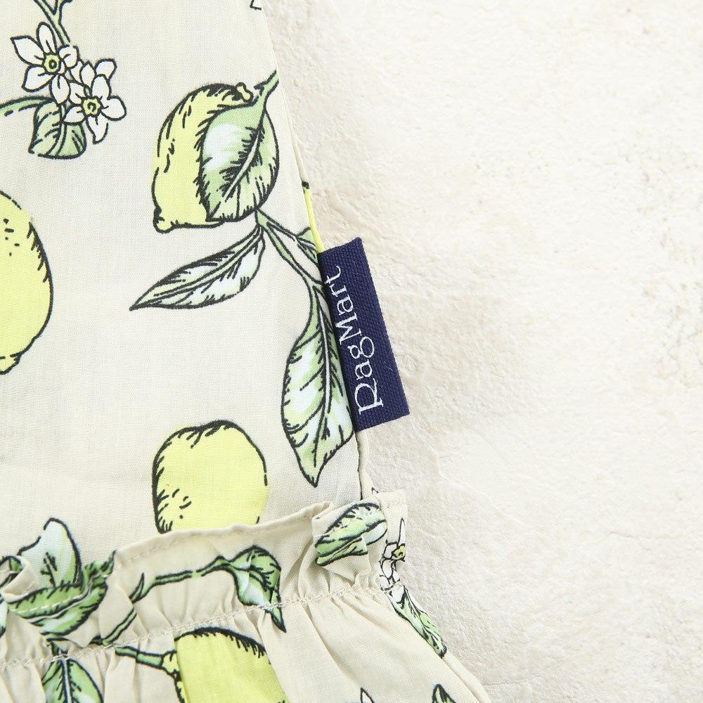 プリントサンドレス 花柄 レモン柄 果実柄