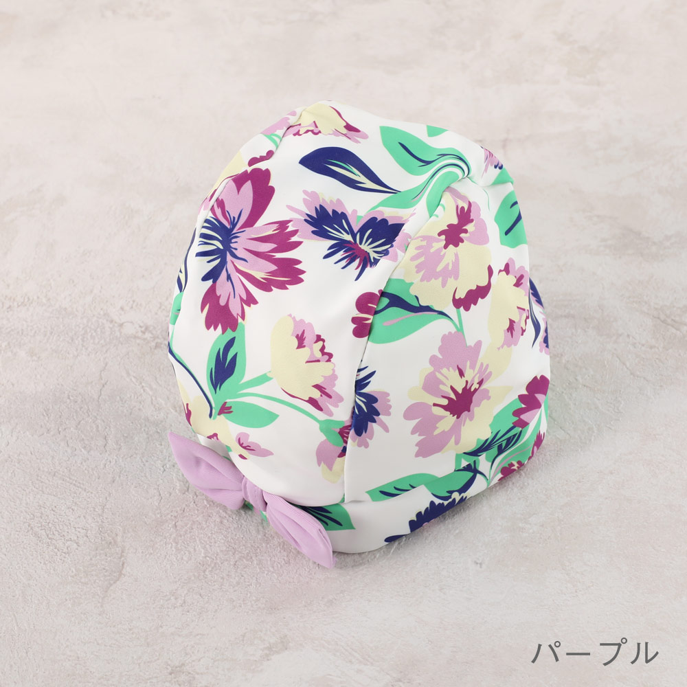 【セール】スイムキャップ 花柄