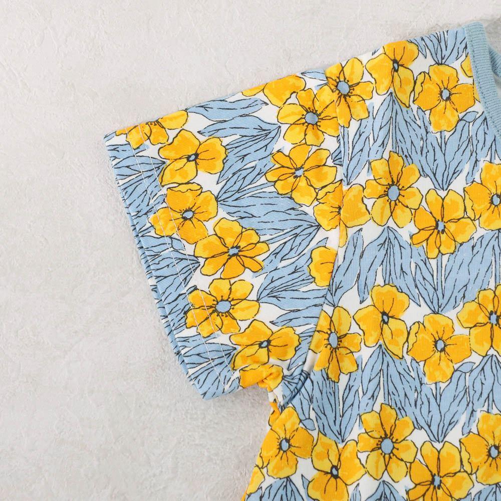 プリントTシャツ 花柄