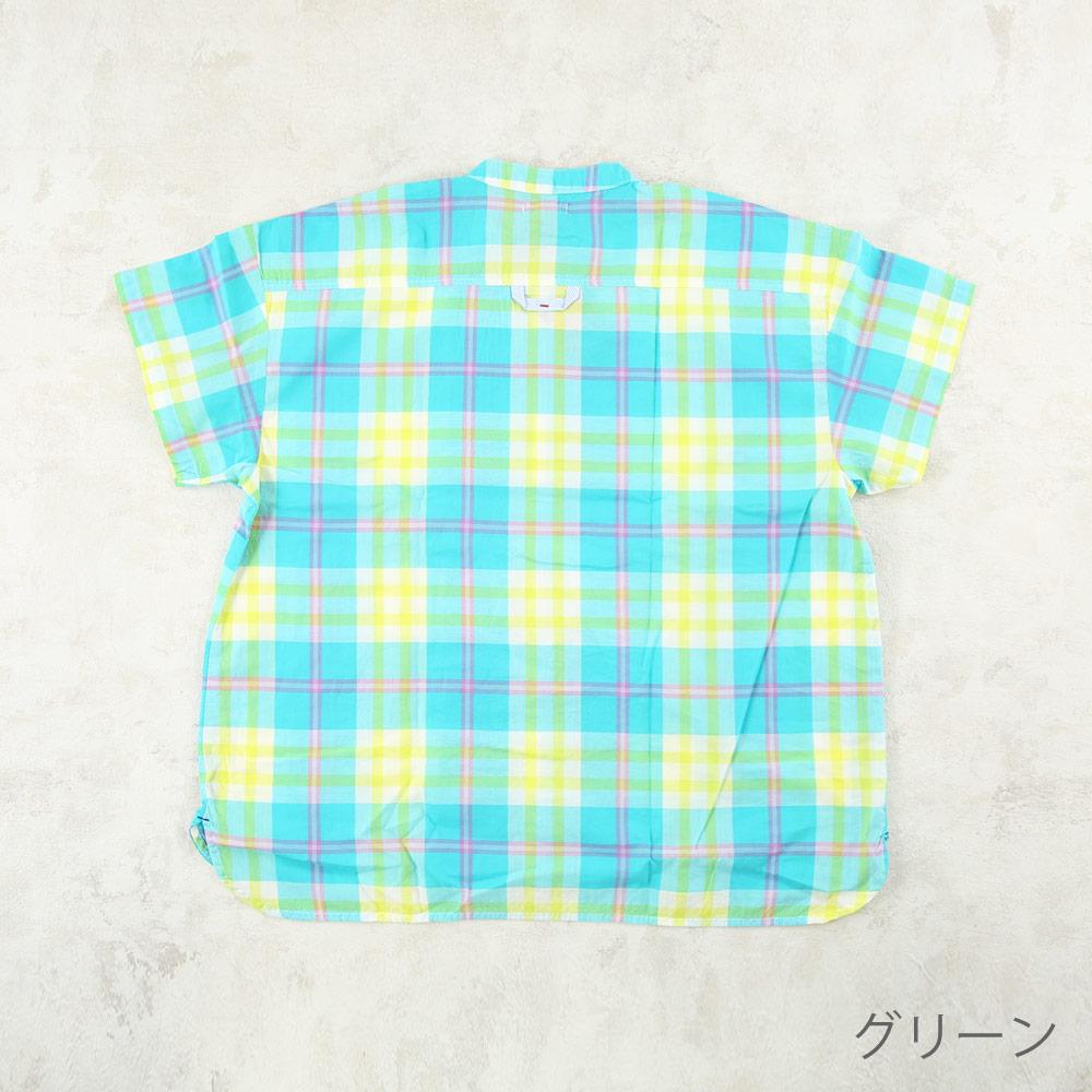 ノーカラーシャツ ママ