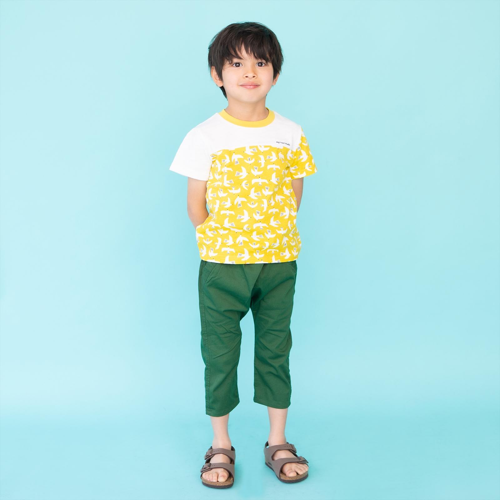 総柄プリントTシャツ カモメ