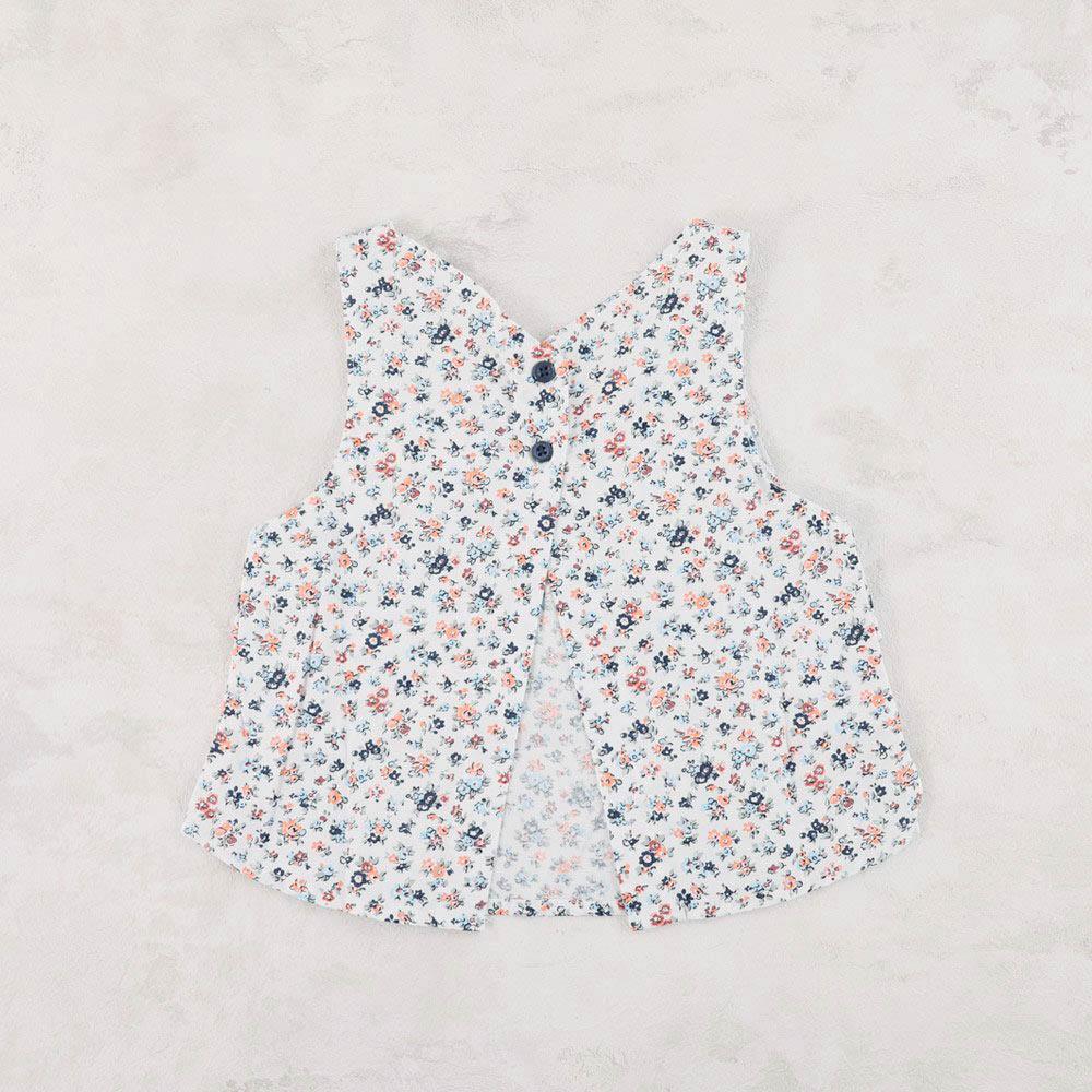 【セール】布帛ベスト付き 半袖シャツ