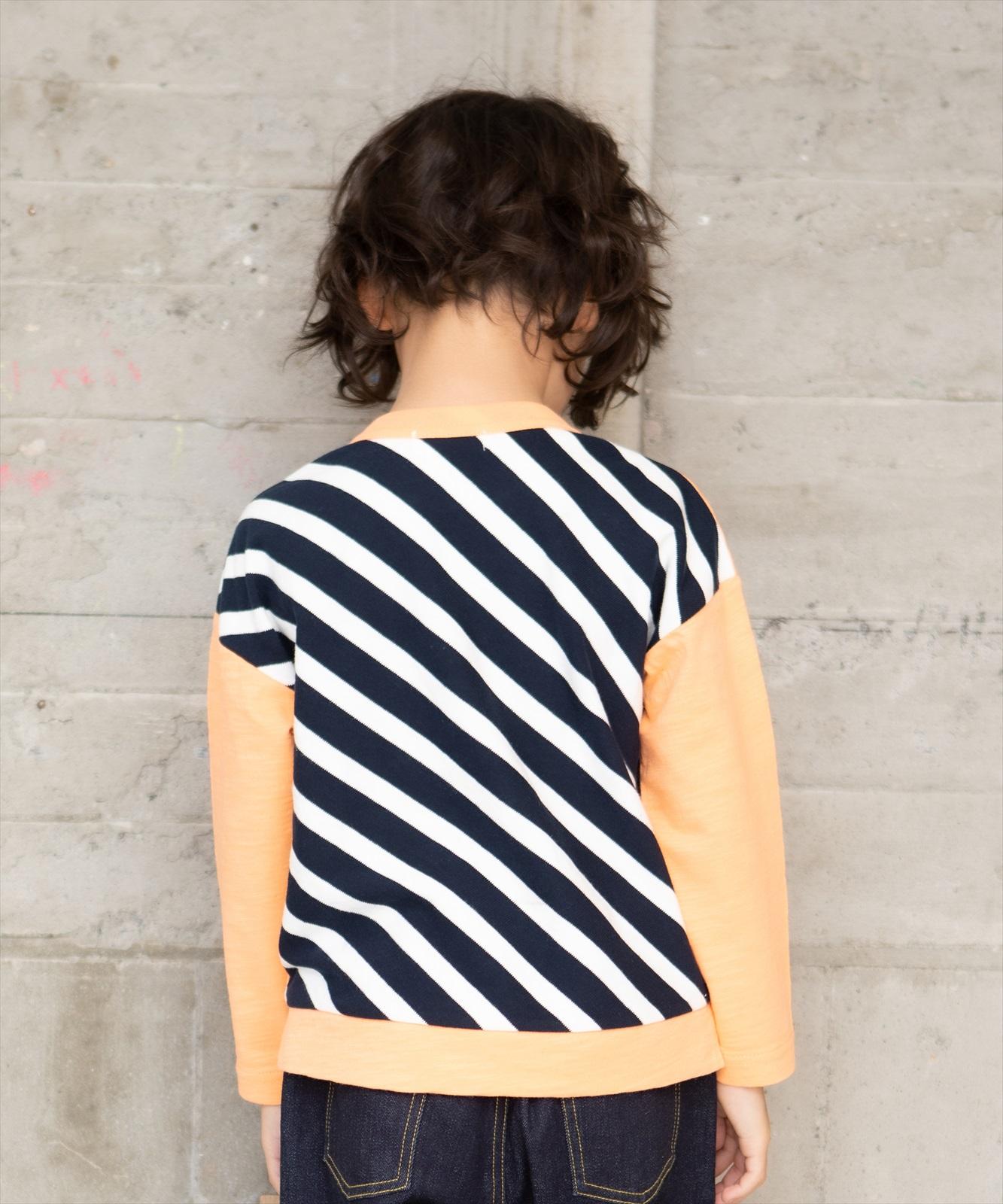 【セール】カメラプリントロングスリーブTシャツ